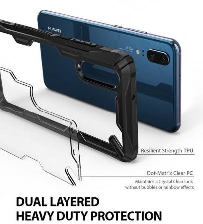Husa Ringke FUSION X Black pentru Huawei P205