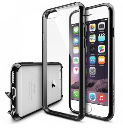 Husa Ringke FUSION NEGRU+BONUS folie protectie display Ringke pentru iPhone 6 / iPhone 6s0