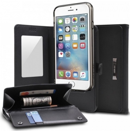 Husa Ringke WALLET NEGRU pentru  iPhone 6 / iPhone 6s5