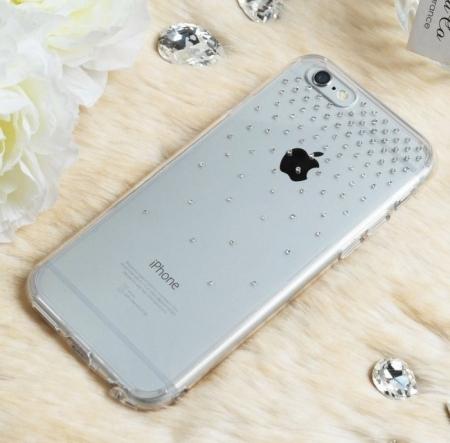 Husa Ringke NOBLE SWAROVSKI SUN FUSION SMOKE BLACK cu cristale premium SWAROVSKI pentru iPhone 6 Plus / 6s Plus2