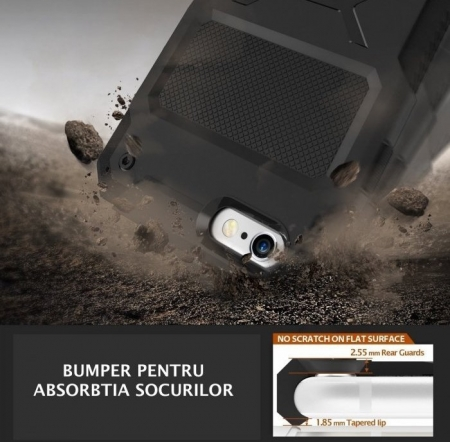 Husa Ringke REBEL BLACK + folie Ringke cadou pentru iPhone 6 Plus / 6s Plus3