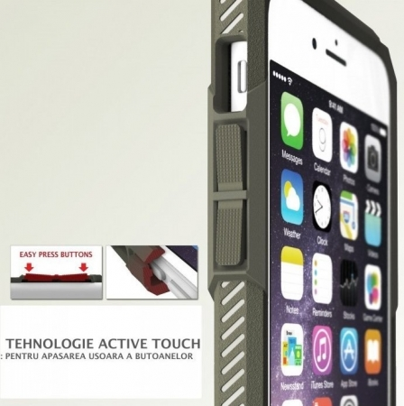 Husa Ringke REBEL BLACK + folie Ringke cadou pentru iPhone 6 Plus / 6s Plus2