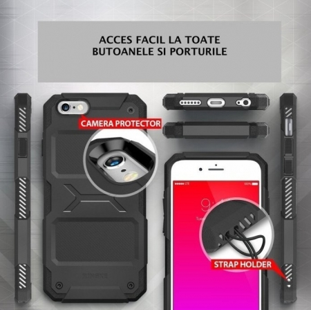 Husa Ringke REBEL BLACK + folie Ringke cadou pentru iPhone 6 Plus / 6s Plus1