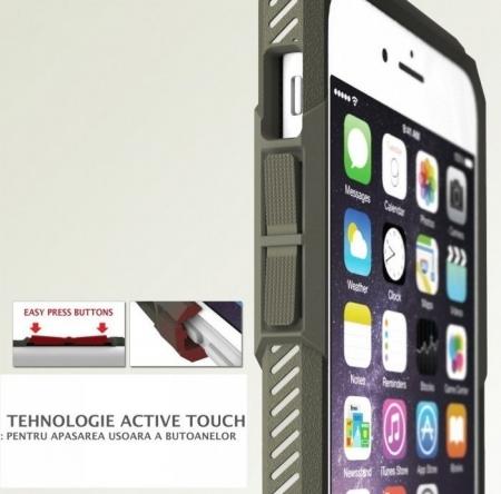 Husa Ringke REBEL GREY + folie Ringke cadou pentru iPhone 6 Plus / 6s Plus2