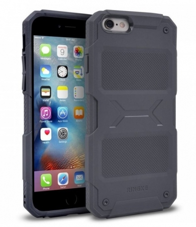 Husa Ringke REBEL GREY + folie Ringke cadou pentru iPhone 6 Plus / 6s Plus0