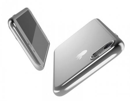 Husa Benks Magic Glitz TRANSPARENT-ARGINTIU pentru  iPhone 7  iPhone 80