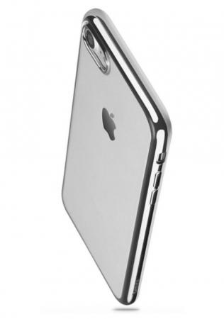 Husa Benks Magic Glitz TRANSPARENT-ARGINTIU pentru  iPhone 7  iPhone 81