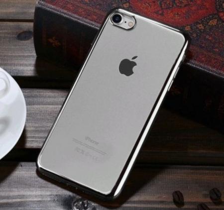 Husa Benks Magic Glitz TRANSPARENT-ARGINTIU pentru  iPhone 7  iPhone 83