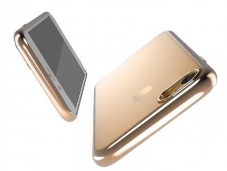 Husa  Benks Magic Glitz TRANSPARENT-AURIU pentru iPhone 7  iPhone 80