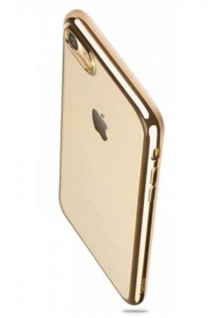 Husa  Benks Magic Glitz TRANSPARENT-AURIU pentru iPhone 7  iPhone 81