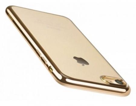 Husa  Benks Magic Glitz TRANSPARENT-AURIU pentru iPhone 7  iPhone 82