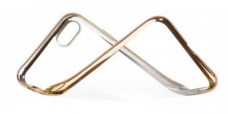 Husa  Benks Magic Glitz TRANSPARENT-AURIU pentru iPhone 7  iPhone 85