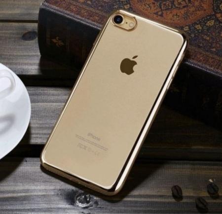 Husa  Benks Magic Glitz TRANSPARENT-AURIU pentru iPhone 7  iPhone 86