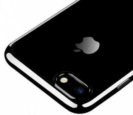 Husa Benks Magic Glitz TRANSPARENT - NEGRU pentru iPhone 7  iPhone 83