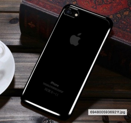 Husa Benks Magic Glitz TRANSPARENT - NEGRU pentru iPhone 7  iPhone 84