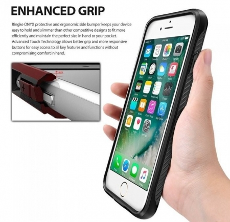 Husa Ringke ONYX BLACK pentru  iPhone 7  iPhone 85