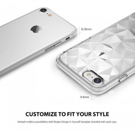 Husa Ringke PRISM SMOKE BLACK pentru iPhone 7  iPhone 82