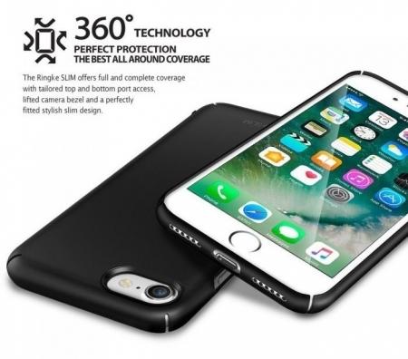 Husa Ringke Slim GLOSS BLACK pentru  iPhone 7  iPhone 84