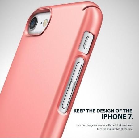 Husa Ringke Slim GLOSS BLACK pentru  iPhone 7  iPhone 83