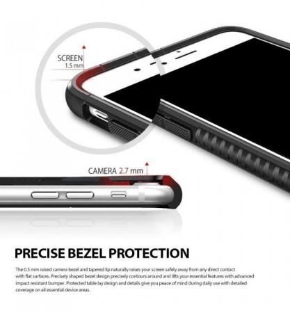 Husa Ringke ARMOR MAX SLATE METAL + BONUS folie protectie display Ringke pentru iPhone 7 Plus / iPhone 8 Plus1