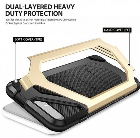 Husa Ringke ARMOR MAX SLATE METAL + BONUS folie protectie display Ringke pentru iPhone 7 Plus / iPhone 8 Plus2