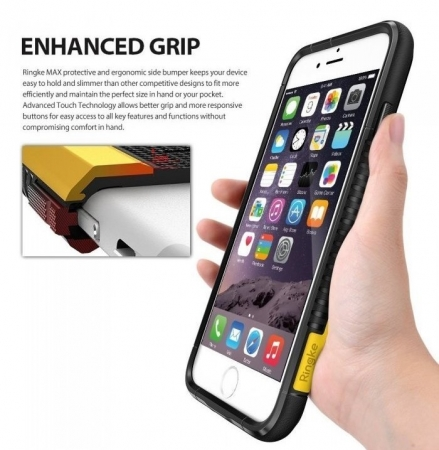 Husa Ringke ARMOR MAX NEGRU + BONUS folie protectie display Ringke pentru iPhone 7 Plus / iPhone 8 Plus4
