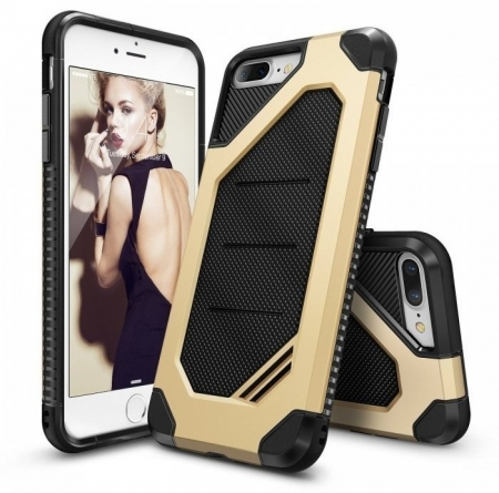 Husa Ringke ARMOR MAX ROYAL GOLD + BONUS folie protectie display Ringke pentru iPhone 7 Plus / iPhone 8 Plus0