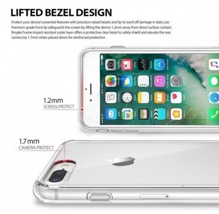 Husa Ringke FUSION ROSE GOLD + BONUS folie protectie display Ringke pentru iPhone 7 Plus / iPhone 8 Plus3