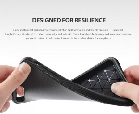 Husa Ringke ONYX MIST GRAY + BONUS folie protectie display Ringke pentru iPhone 7 Plus / iPhone 8 Plus0