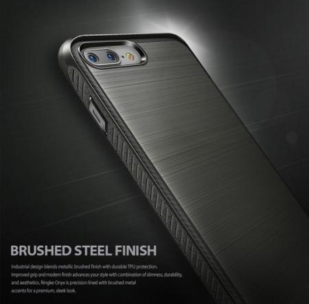 Husa Ringke ONYX MIST GRAY + BONUS folie protectie display Ringke pentru iPhone 7 Plus / iPhone 8 Plus1