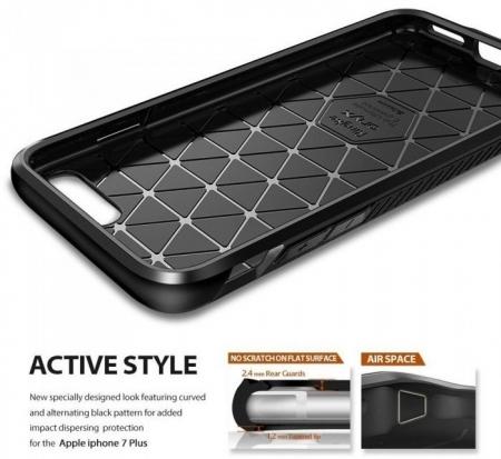 Husa Ringke ONYX MIST GRAY + BONUS folie protectie display Ringke pentru iPhone 7 Plus / iPhone 8 Plus3