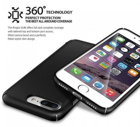 Husa Ringke Slim FROST GREY + BONUS folie protectie display Ringke pentru iPhone 7 Plus / iPhone 8 Plus6