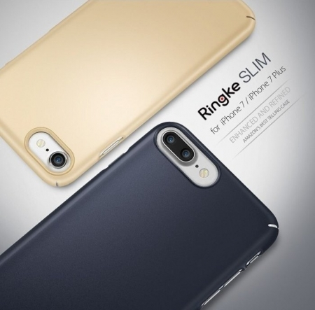 Husa Ringke Slim FROST GREY + BONUS folie protectie display Ringke pentru iPhone 7 Plus / iPhone 8 Plus3