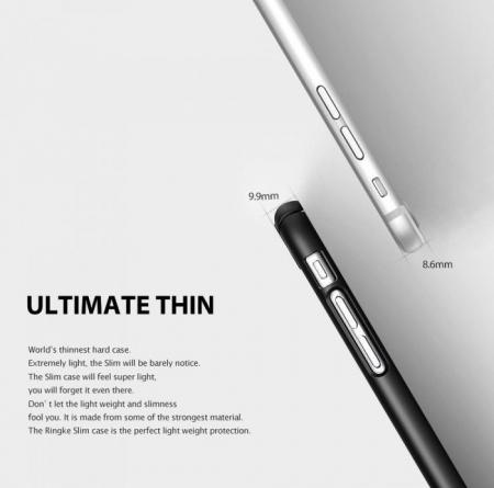 Husa Ringke Slim FROST GREY + BONUS folie protectie display Ringke pentru iPhone 7 Plus / iPhone 8 Plus2