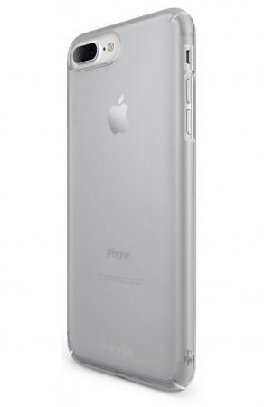 Husa Ringke Slim FROST GREY + BONUS folie protectie display Ringke pentru iPhone 7 Plus / iPhone 8 Plus0