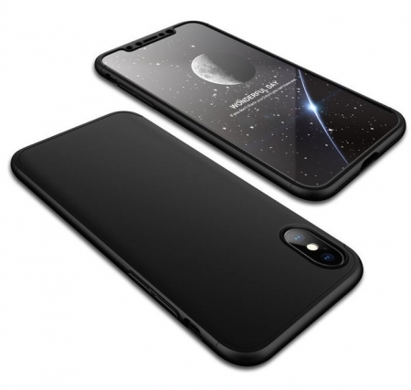 Husa iPhone X GKK 360 + folie protectie display pentru iPhone X0