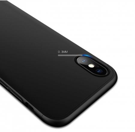 Husa iPhone X GKK 360 + folie protectie display pentru iPhone X5