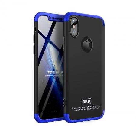 Husa iPhone X GKK 360 Logo Cut Albastru pentru iPhone X0