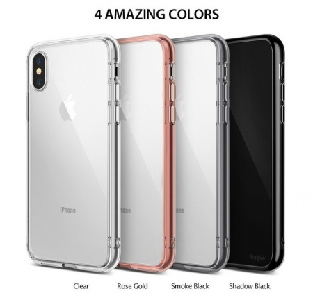 Husa Ringke Fusion Smoke Black pentru iPhone X5