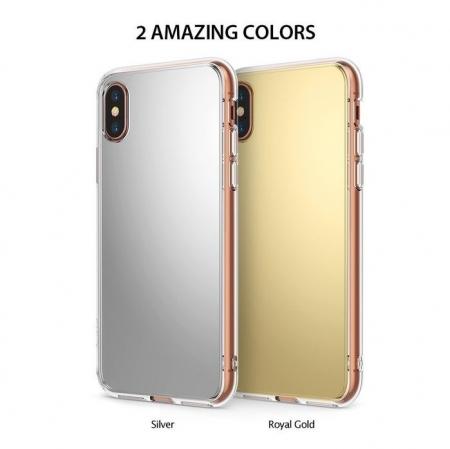 Husa Ringke Mirror Silver pentru iPhone X1