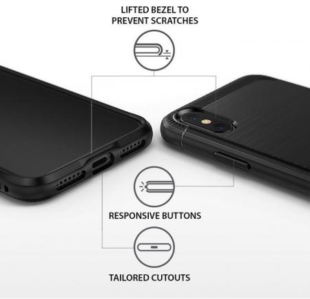 Husa Ringke Onyx Black pentru iPhone X7