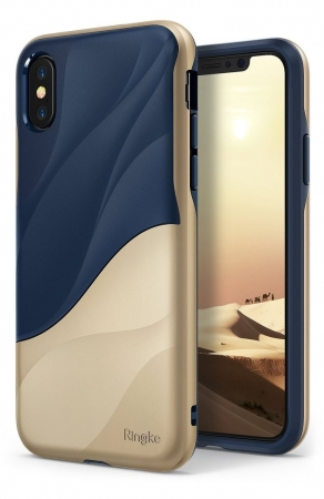 Husa Ringke Wave Marina Gold pentru iPhone X0