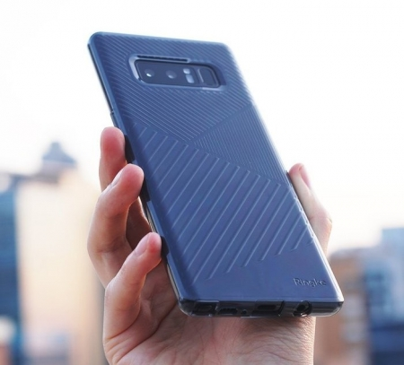 Husa Ringke Bevel Smoke Black pentru Samsung Galaxy Note 81