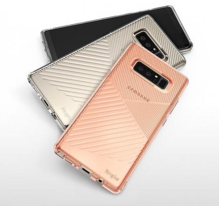 Husa Ringke Bevel Smoke Black pentru Samsung Galaxy Note 84
