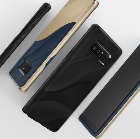 Husa Ringke Wave Charcoal Black pentru Samsung Galaxy Note 86