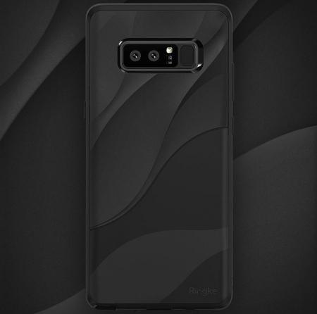 Husa Ringke Wave Charcoal Black pentru Samsung Galaxy Note 83