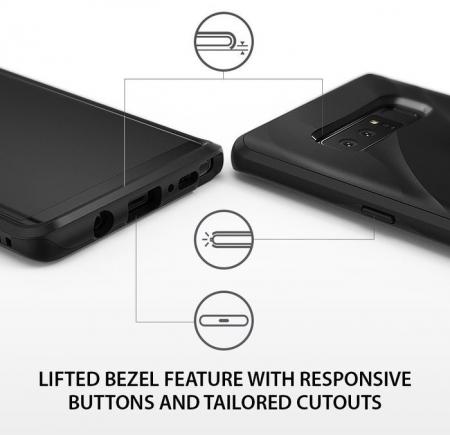 Husa Ringke Wave Charcoal Black pentru Samsung Galaxy Note 82