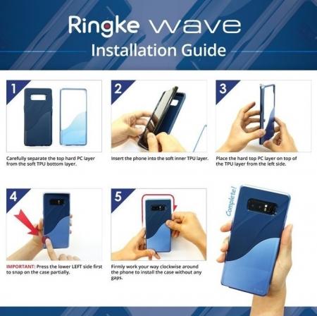 Husa Ringke Wave Charcoal Black pentru Samsung Galaxy Note 81