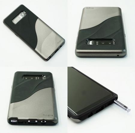 Husa Ringke Wave Metallic Chrome pentru Samsung Galaxy Note 80