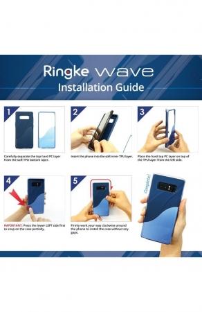 Husa Ringke Wave Metallic Chrome pentru Samsung Galaxy Note 86